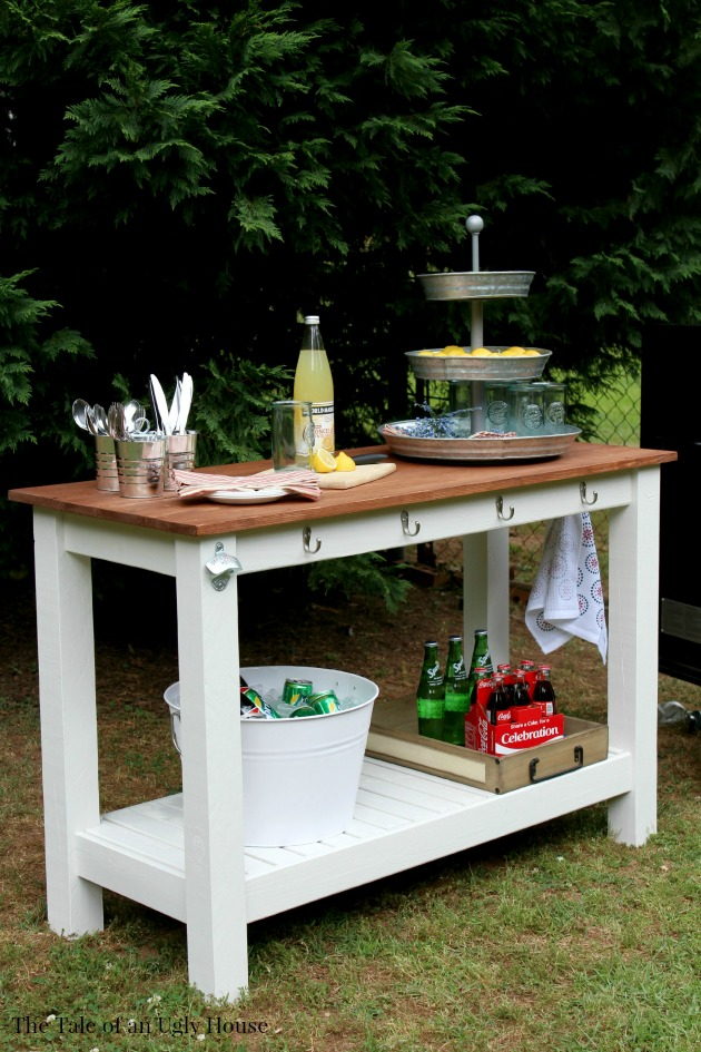 Pottery Barn Inspired Outdoor Buffet