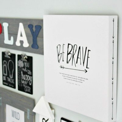 Kids Gallery Wall For Under $25
