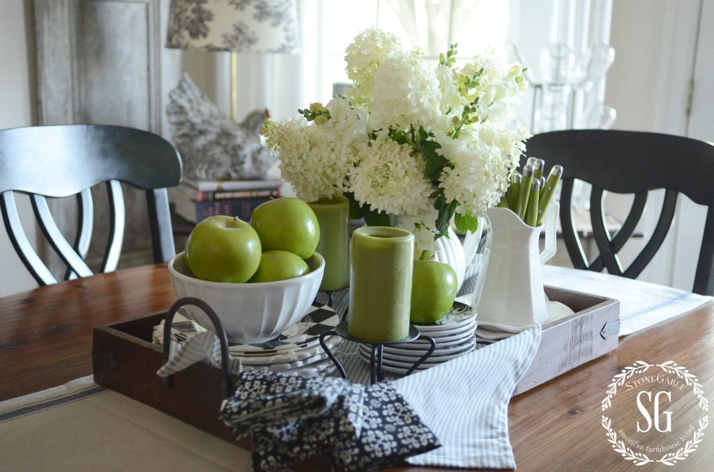 early fall farmhouse kitchen tray table