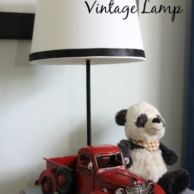 Pottery Barn Inspired Vintage Lamp