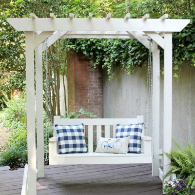 DIY Porch Swing & Pergola