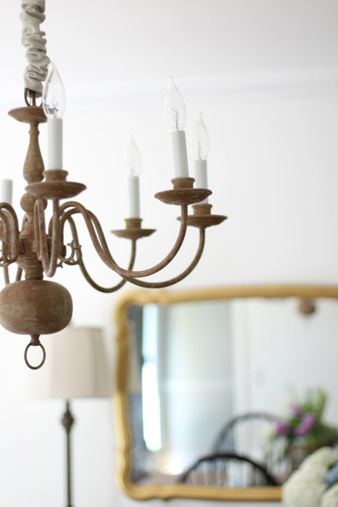 Faux Wooden Chandelier How-To