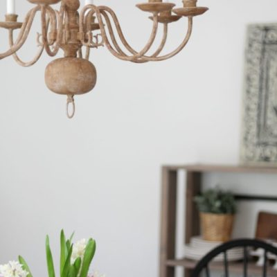 Goodbye Brass, Hello Wooden Chandelier