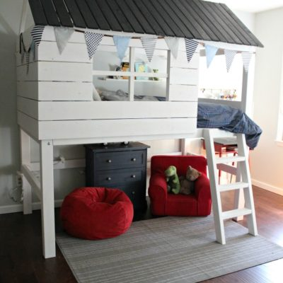 DIY Kids Clubhouse Bed