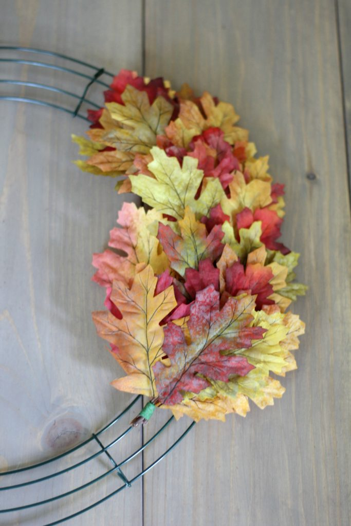 The Easiest & Fullest Fall Leaf Wreath