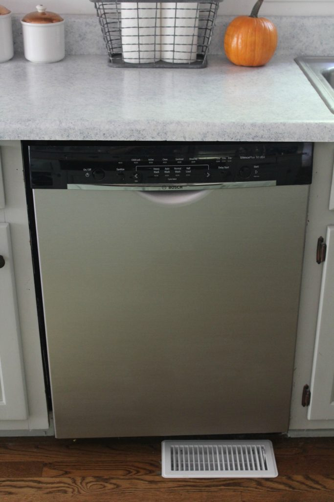 Dishwasher Makeover- Liquid Stainless Steel