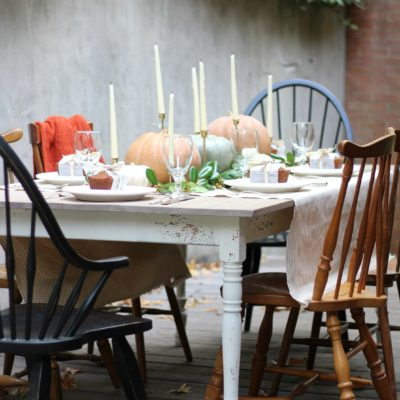 Easy & Rustic Thanksgiving Tablescape
