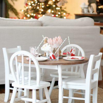 Kids Santa Table Setting