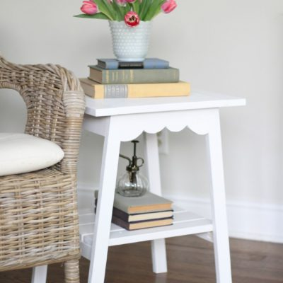 Farmhouse Scallop End Table