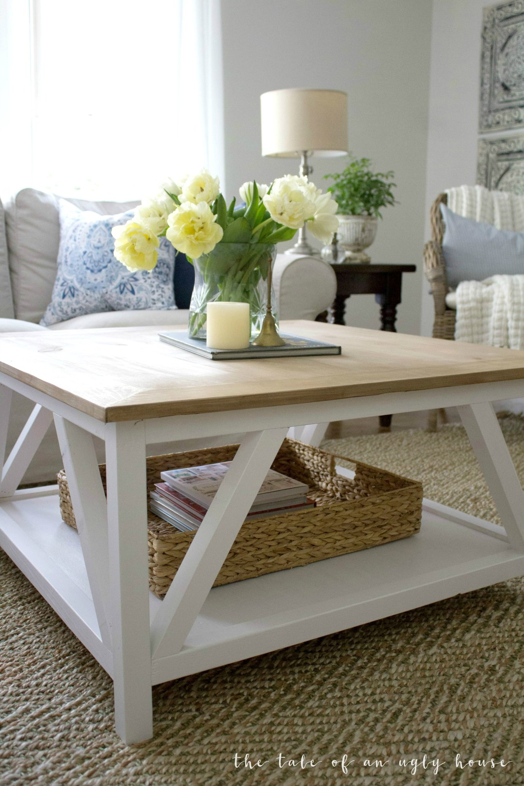 Diy modern farmhouse coffee table sincerely marie designs for Modern end table ideas