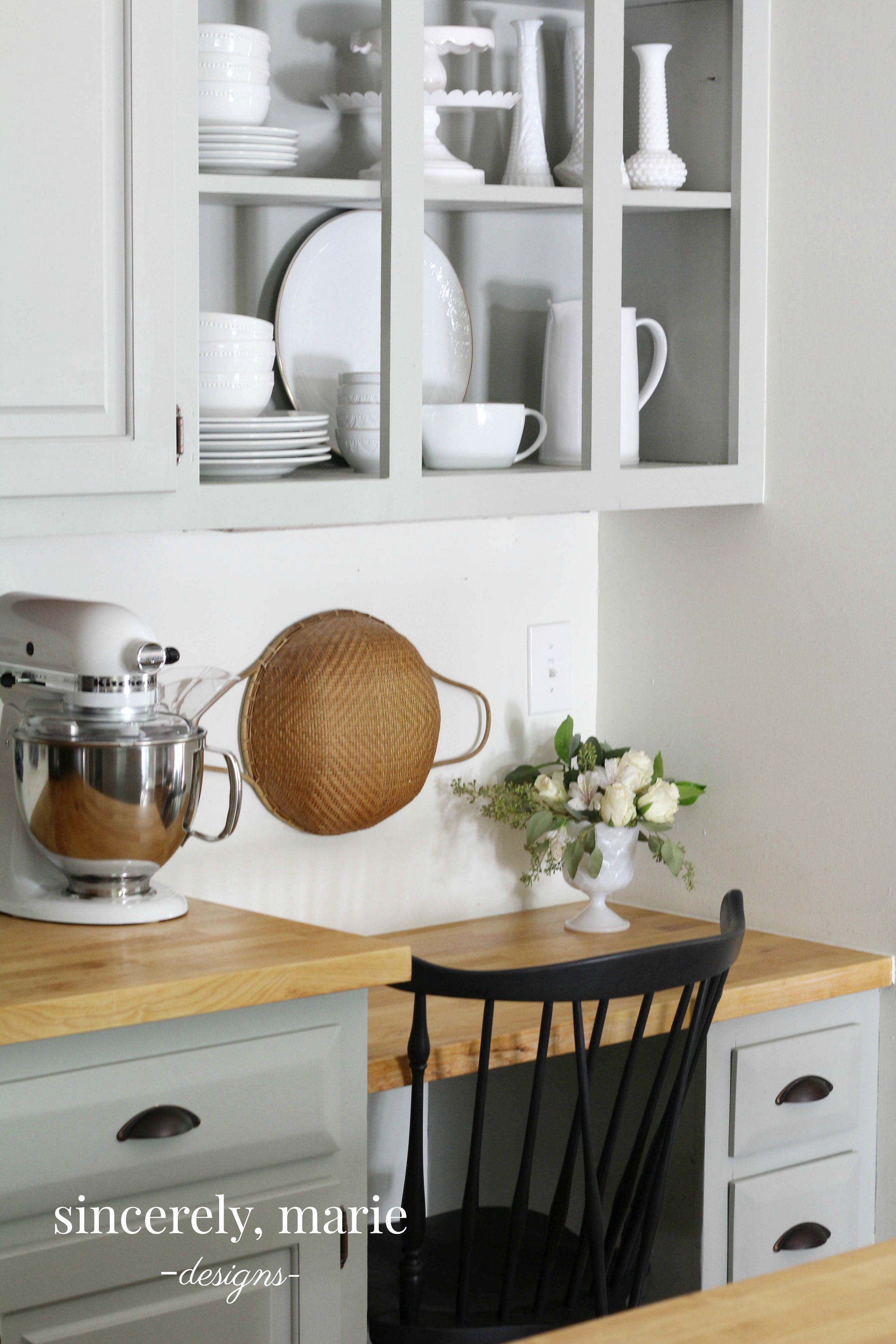 Kitchen Cabinets vs. Open Shelving - Sincerely, Marie Designs
