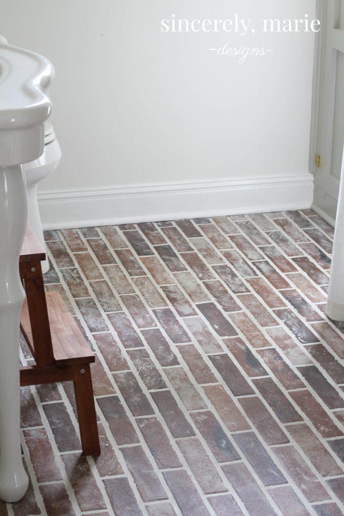 Diy Faux Brick Flooring Sincerely, Brick Laminate Flooring