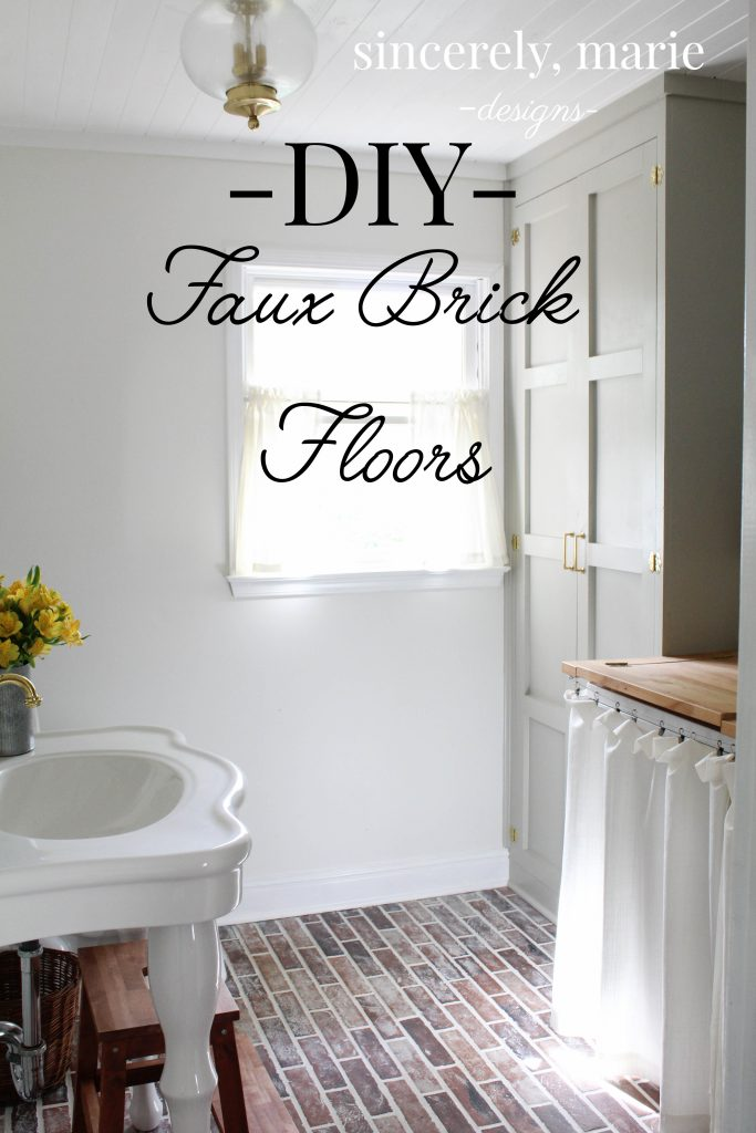 Diy Faux Brick Flooring Sincerely