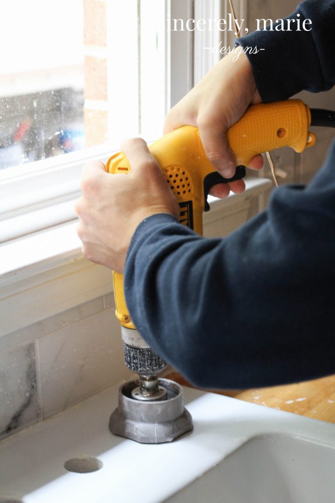 How-To Add Additional Holes To An Ikea Apron Sink