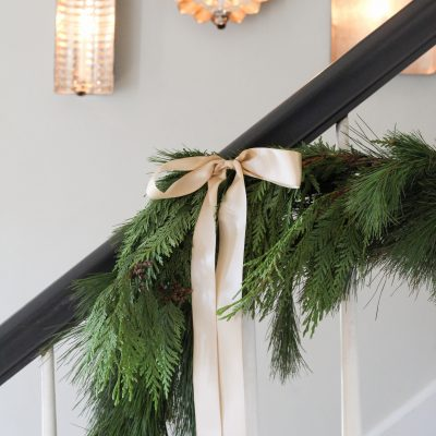Christmas Foyer & Family Room + A Giveaway