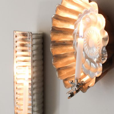 DIY Vintage Baking Pan Sconces