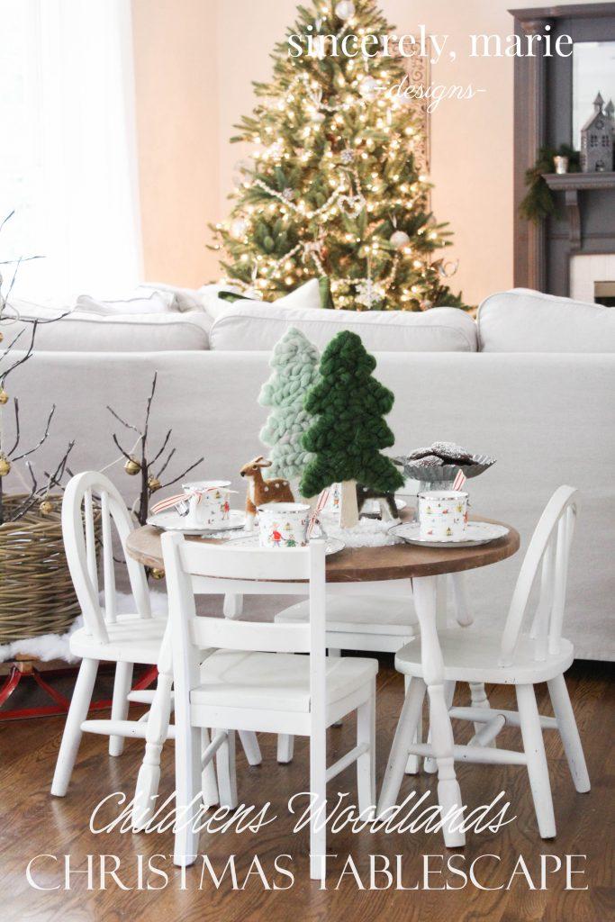 Kids Christmas Table Setting