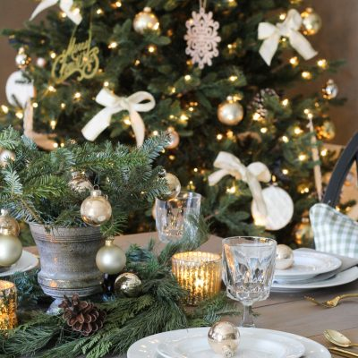 Rustic Elegance – A Christmas Tablescape