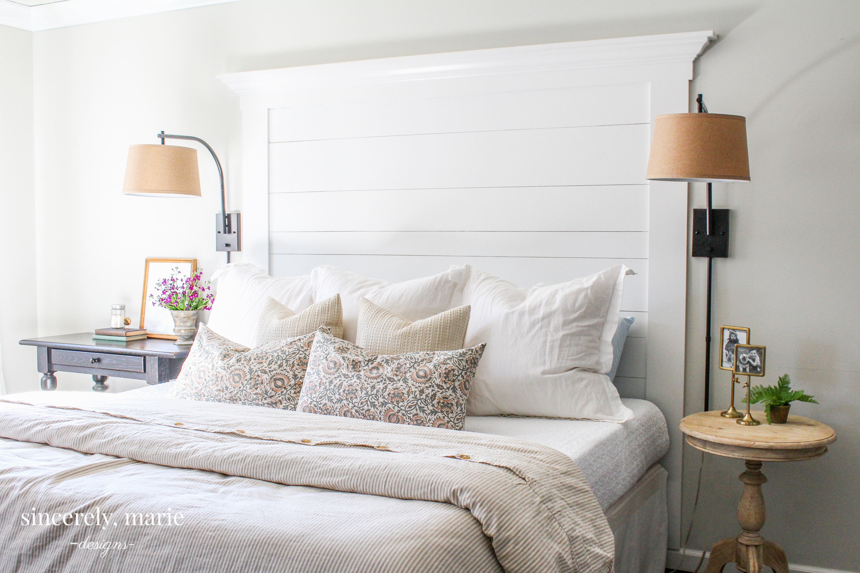 Diy Farmhouse Planked Headboard Sincerely Marie Designs
