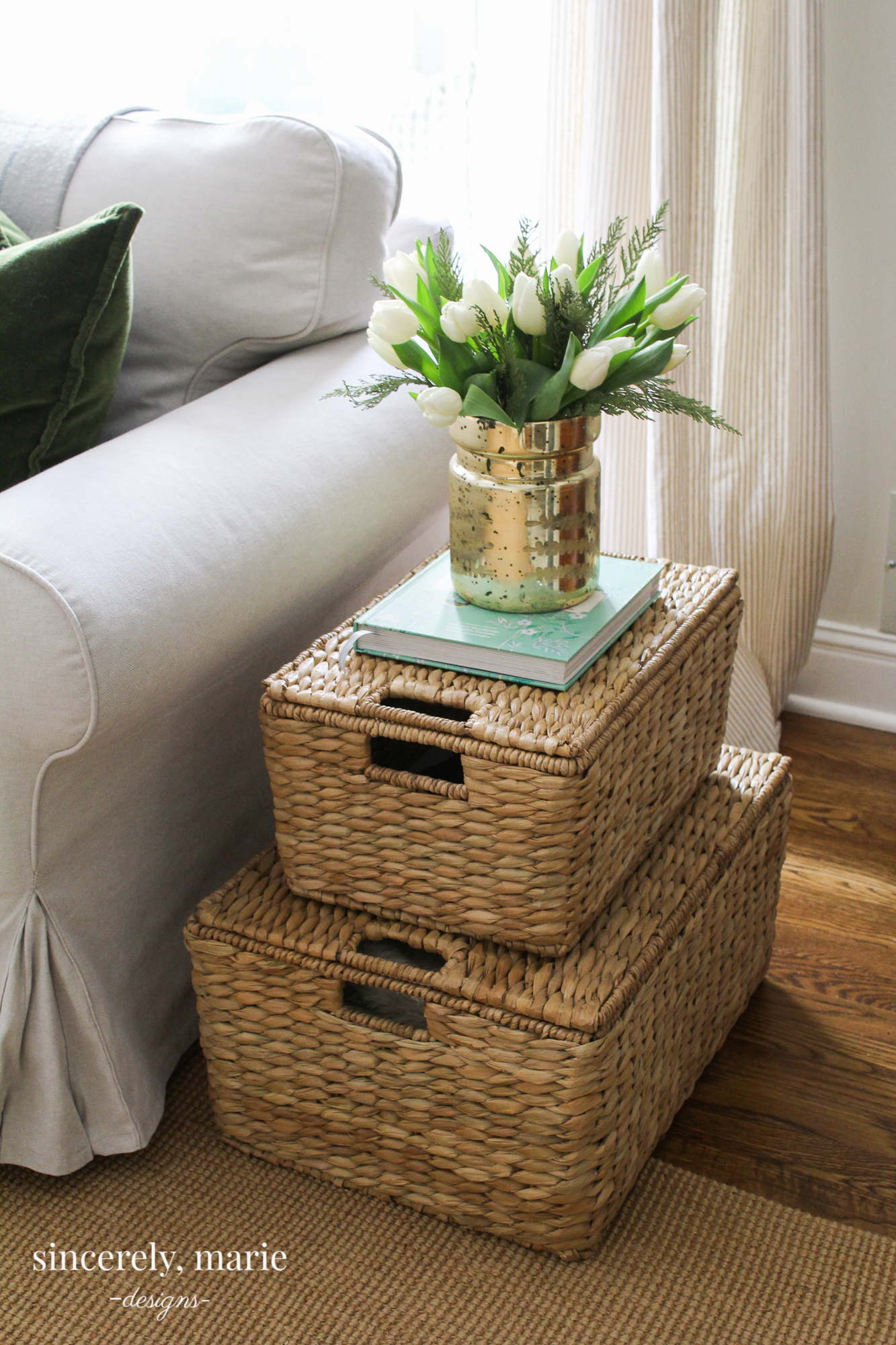 The Perfect End Table Alternative Sincerely Marie Designs