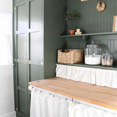 Mini Laundry Room Makeover – New Year New Color