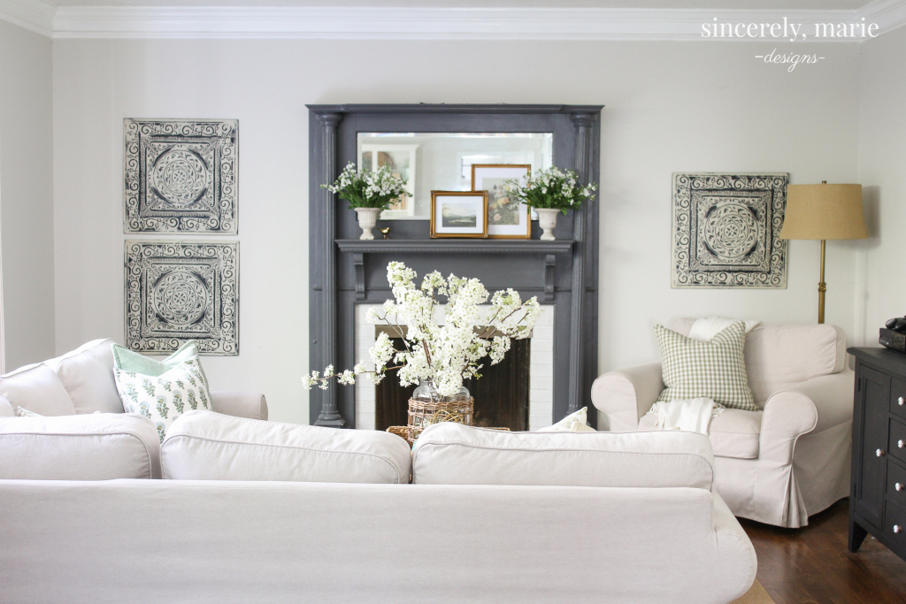 Simple & Classic Spring Mantel