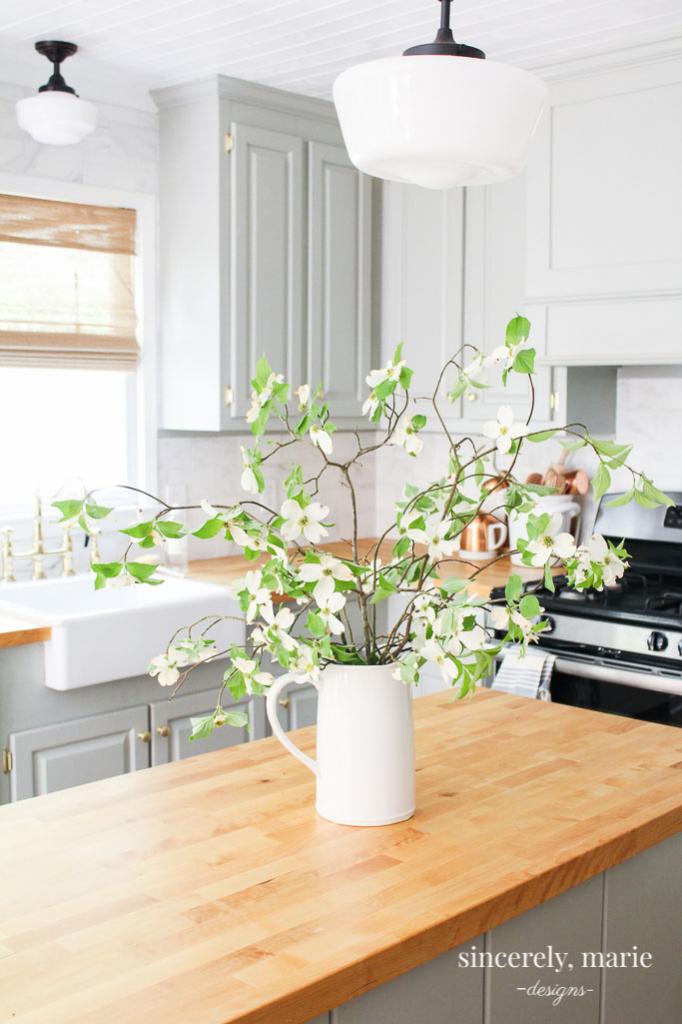 custom cabinet look using trim