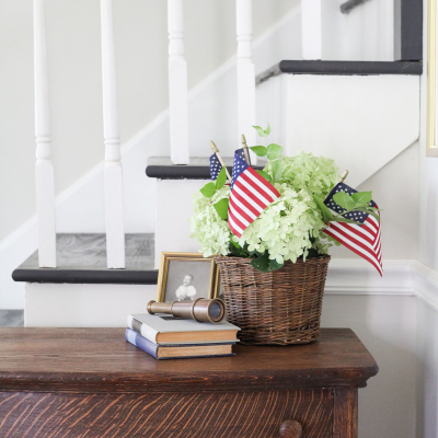 An Easy 4th of July Flower Arrangement & Some Yard Progress