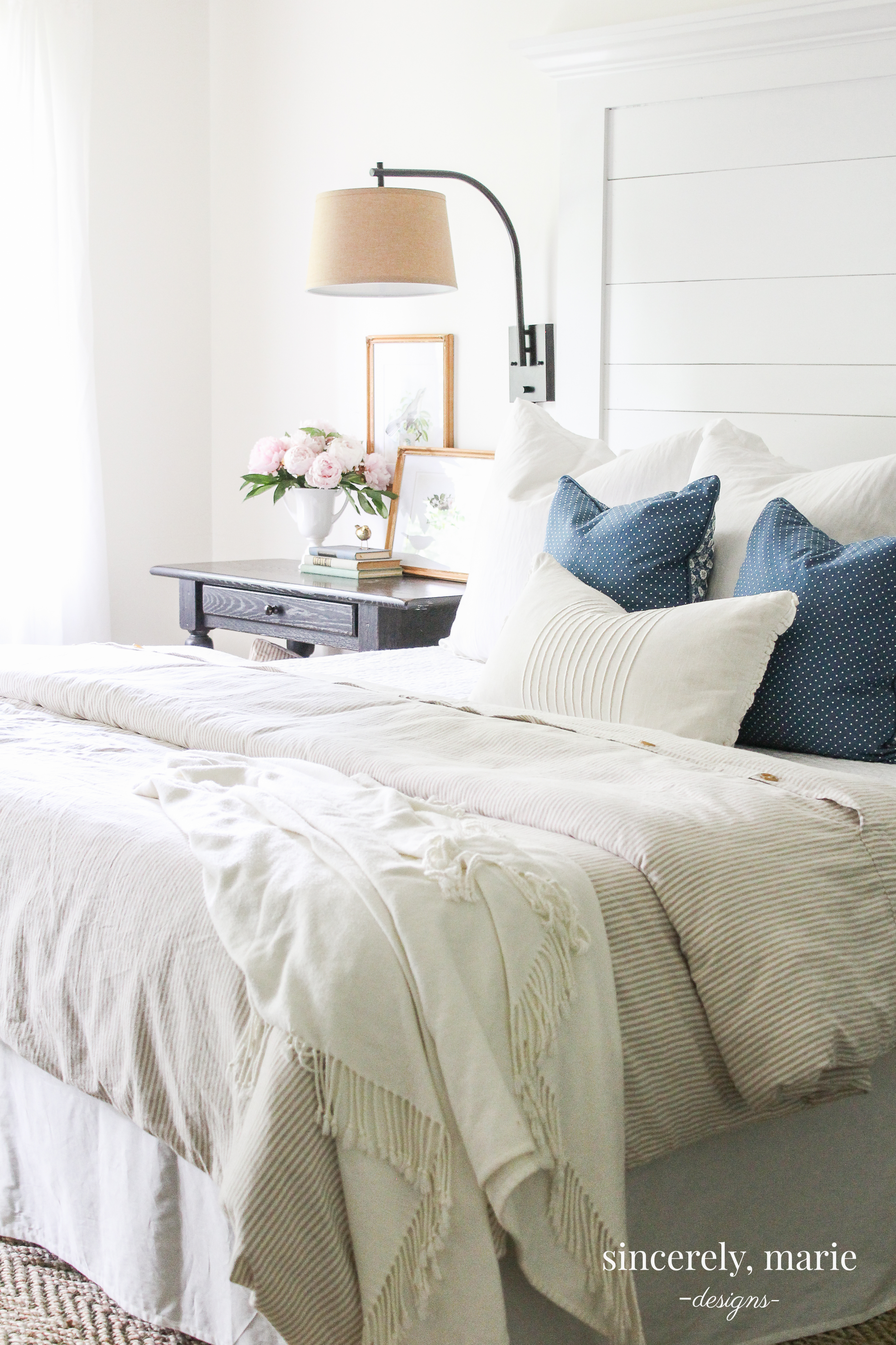 10 Ways to Create a Light & Airy Bedroom - Sincerely, Marie Designs