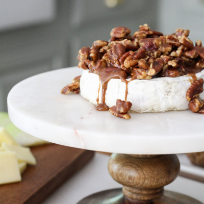 Maple Pecan Baked Brie & Our Favorite Easy Summer Dinner