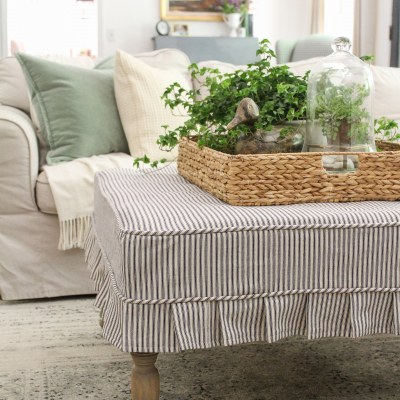 Pleated Ottoman Slipcover How-To
