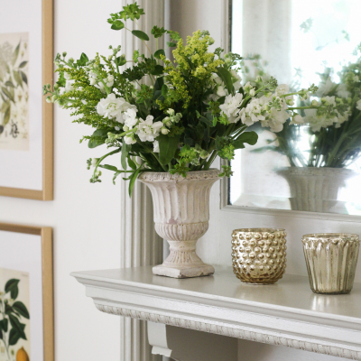 Our Mantel Makeover With A Warm Classic Color