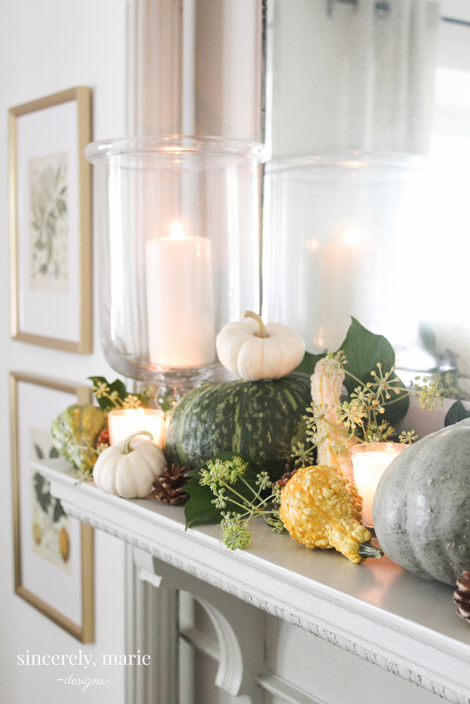 Natural Fall Mantel