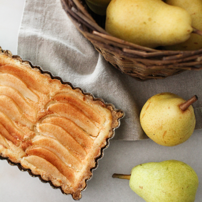 Cinnamon Pear & Walnut Tart