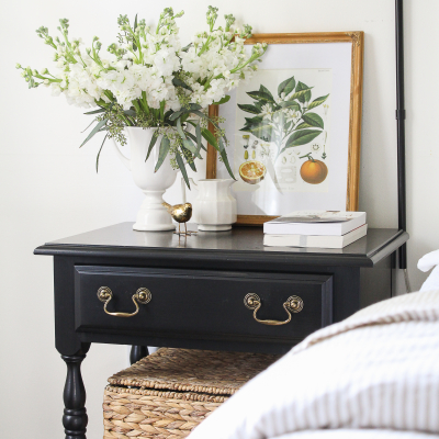 Our Vintage Nightstands & My Favorite Furniture Refinishing Trick