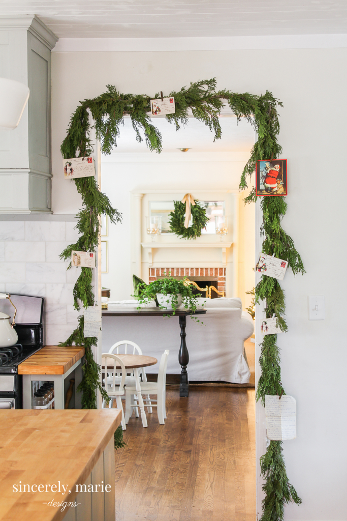 Decorating For Christmas With Fresh Greenery Sincerely Marie Designs