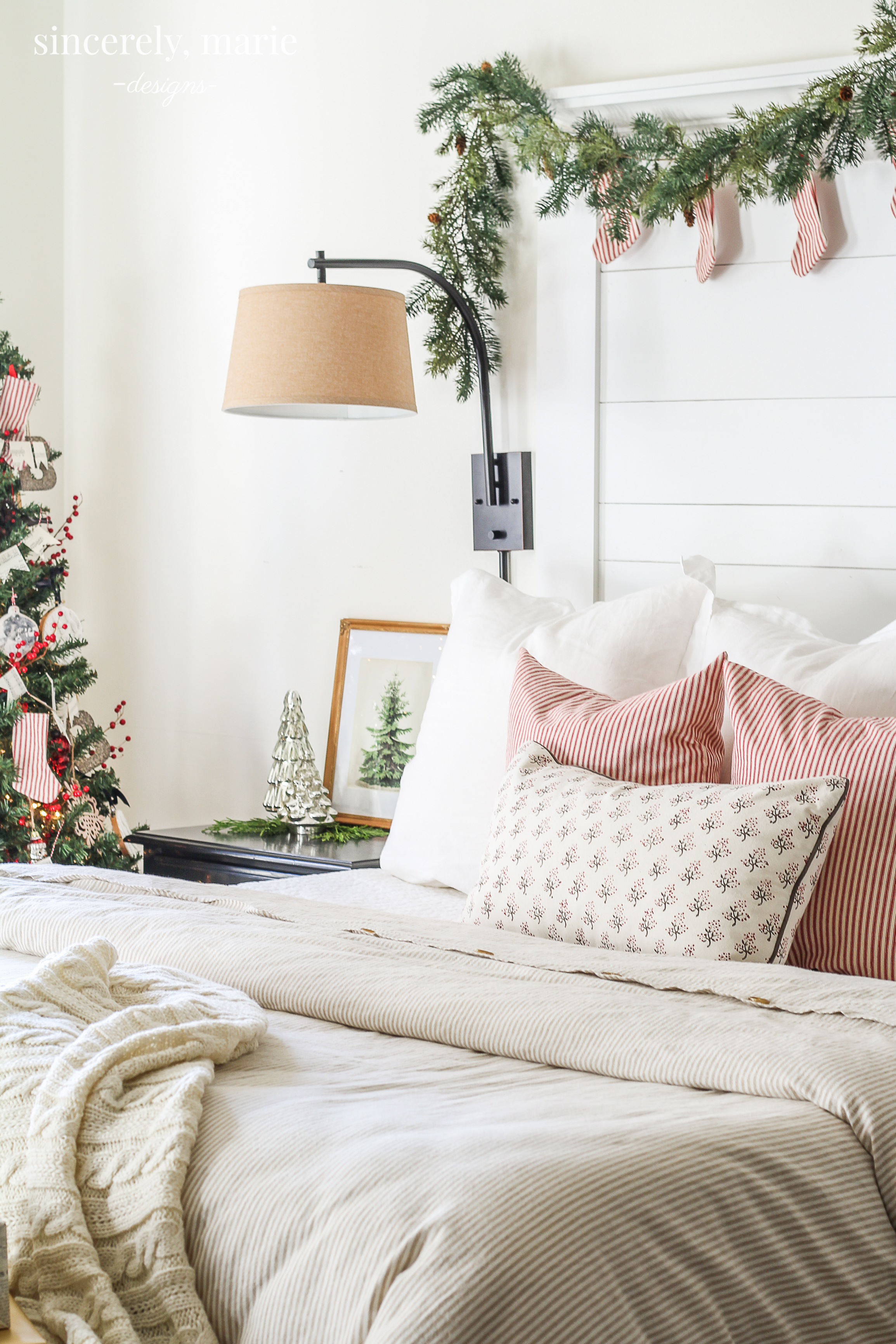 Our Classic & Cozy Christmas Bedroom - Sincerely, Marie ...