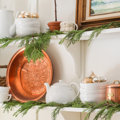 Decorating For Christmas with Fresh Greenery