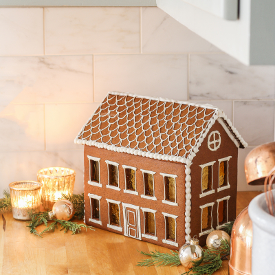 Homemade Colonial Gingerbread House