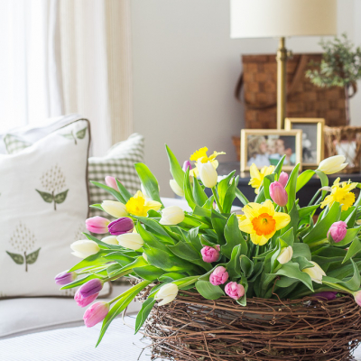 Tulips in a Nest – Spring Arrangement