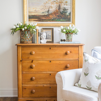 Antique Pine Chest – Spring Vignette