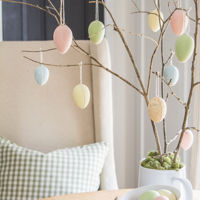 Hanging Easter Egg Tree