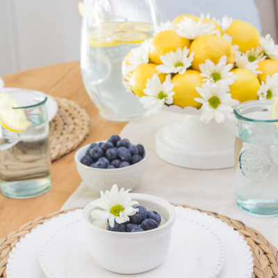 A Sunny Lemon Tablescape for Summer