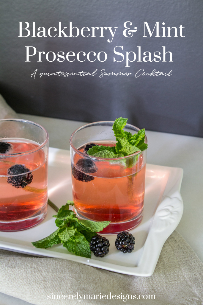 blackberry and mint Prosecco splash