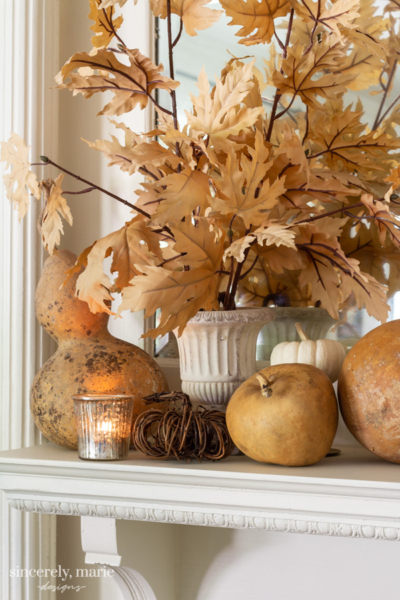 Fall Mantel With Classic Colors