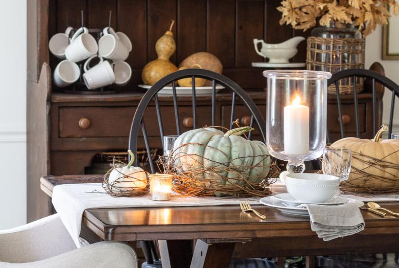 Nesting Pumpkin Tablescape For Fall