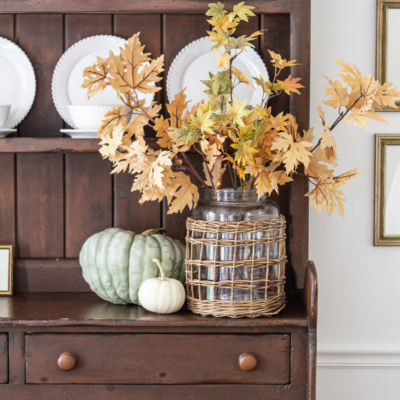 3 Simple Touches For A Fall Hutch