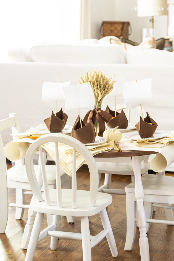 Sit And Joy Childrens Chair.Children S Thanksgiving Tablescape With Diy Mayflowers