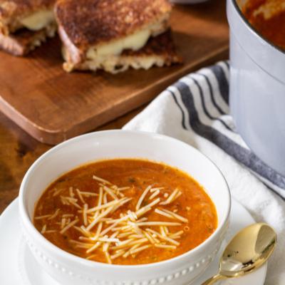 Classic Homemade Tomato Basil Soup