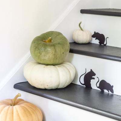Paper Staircase Mice For Halloween